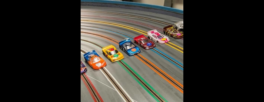Try Our Awesome 8 Lane Slot Car Track